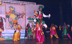 Students performing the Bhangra dance at the School Concert